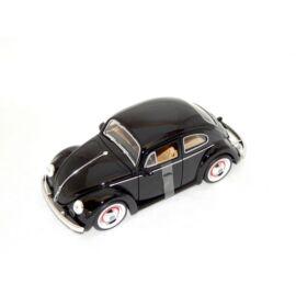 Volkswagen Beetle 1959 Old fekete   modell autó 1:24
