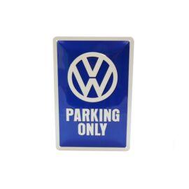 """Volkswagen dombornyomott fémplakát 20 x 30 cm """"Parking Only"""""""