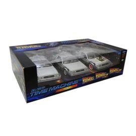 Delorean Time Machine Trilogy Pack  modell autó 1:24