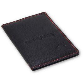 DRIVESAFE black&red bőr jogosítvány és forgalmi en. tartó