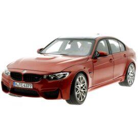 BMW M3 Competition modell autó shakir orange 1:18