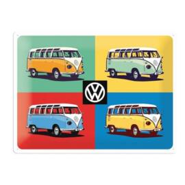 """Volkswagen dombornyomott fémplakát 30 x 40 cm """"4 Bulli Bus"""""""
