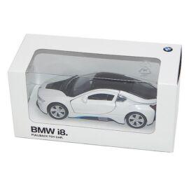 Bmw i8 white hátrahúzós autó 1:41 (11 cm)