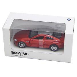 Bmw M6 Red Met. hátrahúzós autó 1:42 (11 cm)