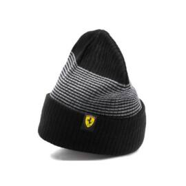 "Puma Ferrari uniszex téli sapka ""Fanwear"" fekete csíkos 2019"
