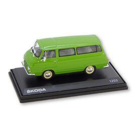 Skoda 1203 1974 Medium Green modell autó 1:43