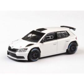 Skoda Fabia III R5 2015 (Black M. tyre) white  modell autó 1:43
