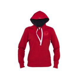 Alfa Romeo női kapucnis pulóver, piros