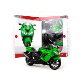 Kawasaki Ninja ZX-14R green metal modelkit. modell  1:12