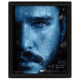 Trónok harca Jon Snow vs Knight King, Winter is here 3D lenticular poszter fakerettel