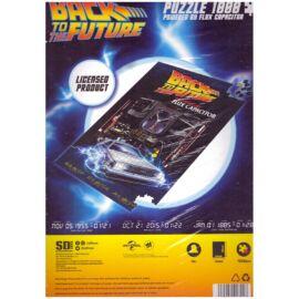 Back to the Future fluxus kondenzátor, Delorean 1000 db-os puzzle 45 x 66 cm
