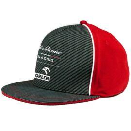 Alfa Romeo Racing baseball sapka, Team 2020 flat brim, carbon fiber, piros