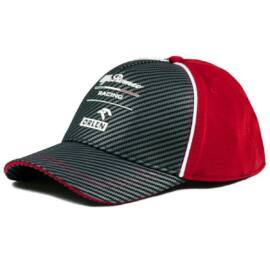 Alfa Romeo Racing baseball sapka, Team 2020, carbon fiber, piros