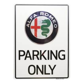 Alfa Romeo Parking Only tábla, Private use only 29,7 x 40 cm