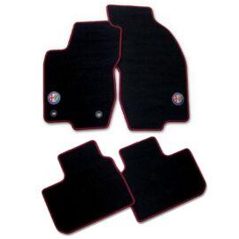 Alfa Romeo 156 velúr szőnyeg garnitúra, fekete-piros LHD