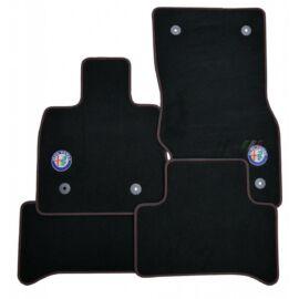 Alfa Romeo Stelvio velúr szőnyeg garnitúra, fekete-piros LHD