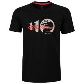Alfa Romeo 110 anniversary Classy logo férfi póló, fekete