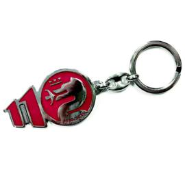 Alfa Romeo 110 anniversary fém kulcstartó, piros-króm