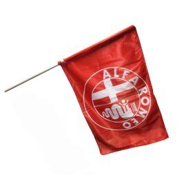 Alfa Romeo zászló piros/fehér rúddal 90 x 60 cm