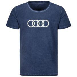 Audi férfi póló, ringe 2020, kék