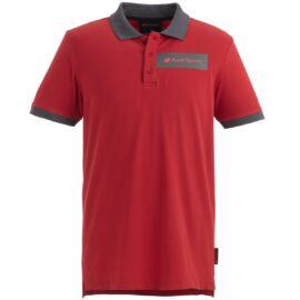 Audi Sport férfi pólóing, classic 2020, piros-szürke