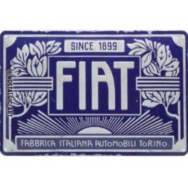 Fiat dombornyomott fémplakát 20 x 30 cm