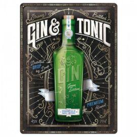 Gin & Tonik dombornyomott fémplakát 30 x 40 cm