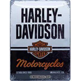 """Harley-Davidson dombornyomott fémplakát 30 x 40 cm """"Motorcycles"""""""