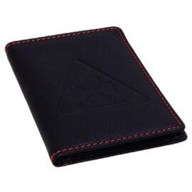 Alfisti Clover/110 black&red bőr jogosítvány és forgalmi en. tartó