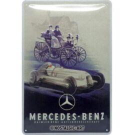 """Mercedes-Benz dombornyomott fémplakát """"Daimler-benz""""  20 x 30 cm"""