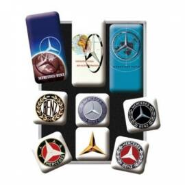 """Mercedes-Benz mágnes-szett """"Logo Evolution"""" 9 x 7 cm"""