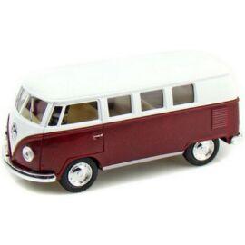 1962 Classical Volkswagen Samba Bus bordó hátrahúzós autó 1:64