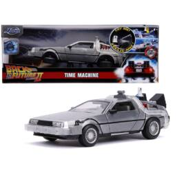 Back To The Future Delorean part 2 including hoover mode&lights modell autó 1:24