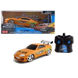 BRIAN'S Toyota Supra F&F R/C orange távirányítós autó 1:24