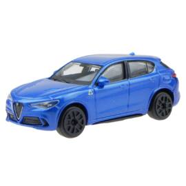 Alfa Romeo Stelvio blue modell autó 1:43