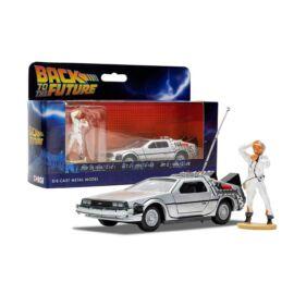 Back To The Future Delorean part 1 & Doc Brown figura modell autó 1:36