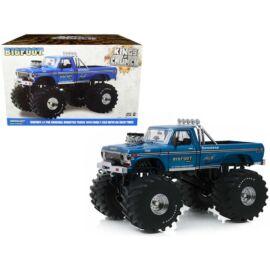 Ford F-250 Monster Truck Bigfoot#1 kings of crunch blue modell autó 1:18