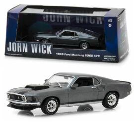 John Wick 1969 Ford Mustang Boss 429 grey modell autó 1:43