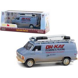 """1986 Dodge Ram Van Home Alone """"Reszkessetek betörők 1990"""" modell autó 1:43"""