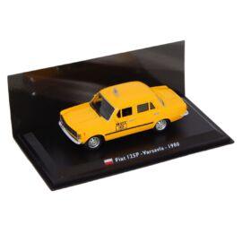 TAXI Fiat 125P - Varsavia -1980 yellow modell autó 1:43