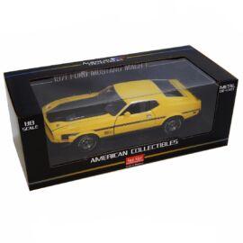 1971 Ford Mustang MACH 1 Medium Bright Yellow modell autó 1:18
