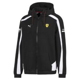 Puma Ferrari férfi kapucnis pulóver fekete-fehér 2020
