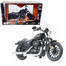 Harley Davidson Sportster Iron 883 2014 matt fekete modell 1:12