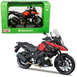 Suzuki V-Strom 1000 fekete/piros modell 1:12