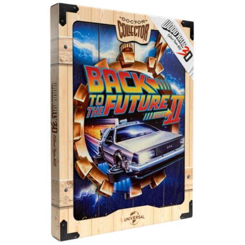 Back to the Future Part II Flying Delorean WOODART 3D faplakát