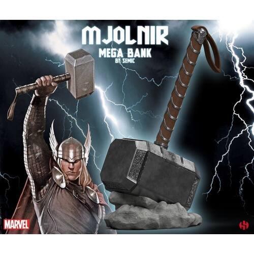 "MARVEL THOR'S MJOLNIR ""MEGA BANK"" persely 28 cm"