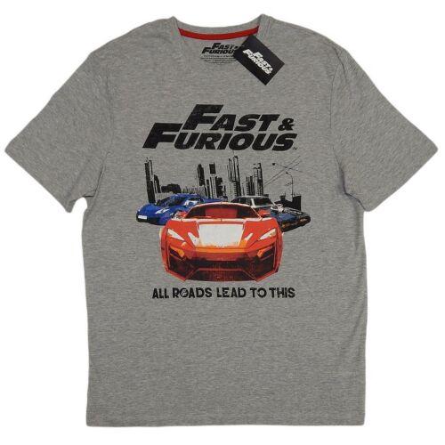 Fast and Furious férfi póló All roads lead to this, szürke