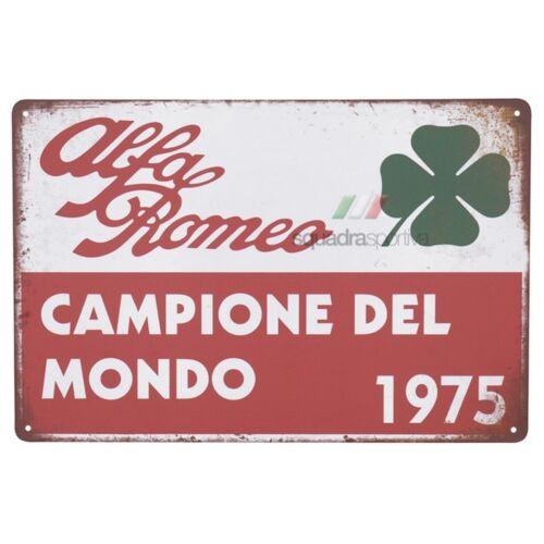 Alfa Romeo Campione Del Mondo 1975 fémplakát 20 x 30 cm
