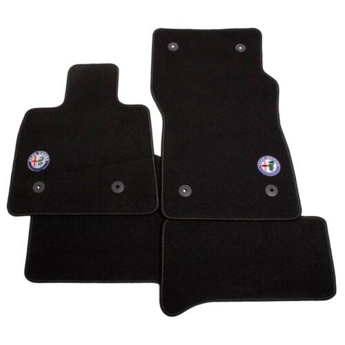 Alfa Romeo Stelvio velúr szőnyeg garnitúra, fekete-fekete LHD
