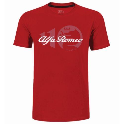 Alfa Romeo 110 anniversary Classy logo férfi póló, piros